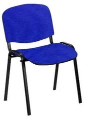 ISO 4-leg visitor meeting stacking chair