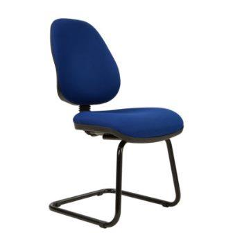 Kadeby black cantilever frame high back visitor meeting chair