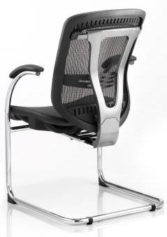 Mirst cantilever frame chair with mesh back and seat
