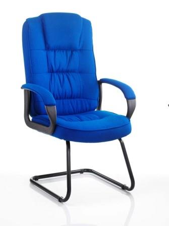 Moar cantilever frame visitor meeting chair in blue fabric