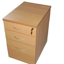 Endurance 3-drawer desk height pedestal 600mm deep