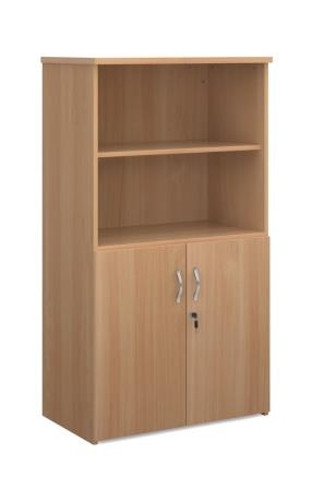 Entry level combination 2-door cupboard and open shelving